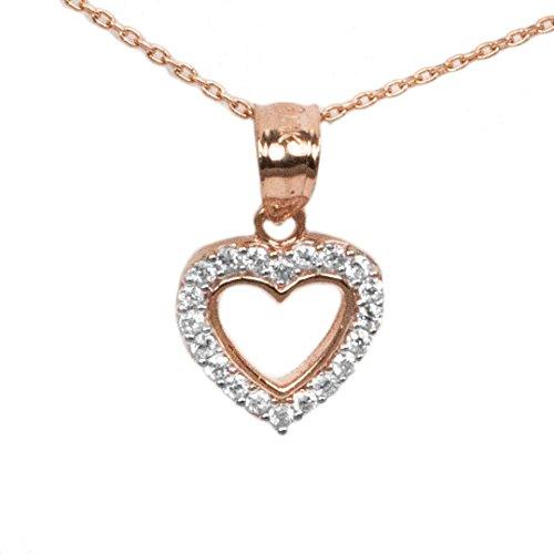 10k Rose Gold Heart Pendant