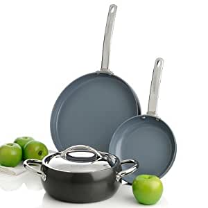 Todd English Hard Anodized by GreenPan™ The Essential Gourmet Cookware Set