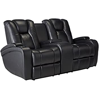 Amazon Com Delange Reclining Power Sofa With Adjustable Headrests