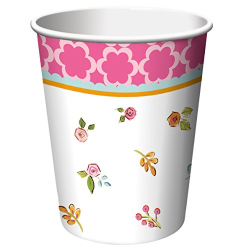 Creative Converting 8 Count Paper Cups, Tea Time