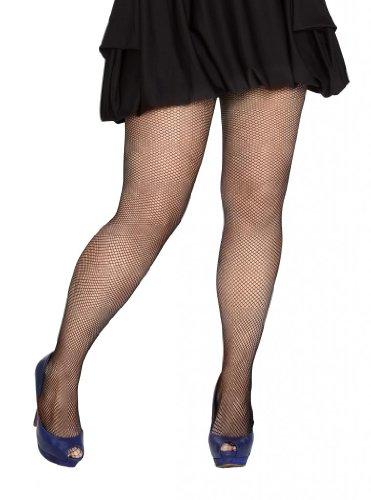 Plus Size Black Fishnet Tights -