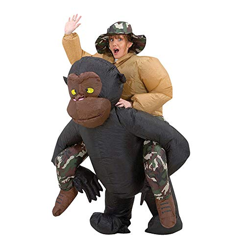 MoreToys Inflatable Chimp Rider Halloween Blow Up Costume