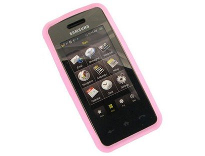 Hot Pink Silicone Protective Skin Cover Case For Samsung Instinct M800