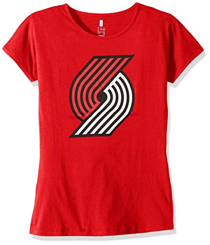 outh Girls Portland Trail Blazers Primary Logo Short Sleeve Dolman Tee, Red, Youth Small(7-8) ()
