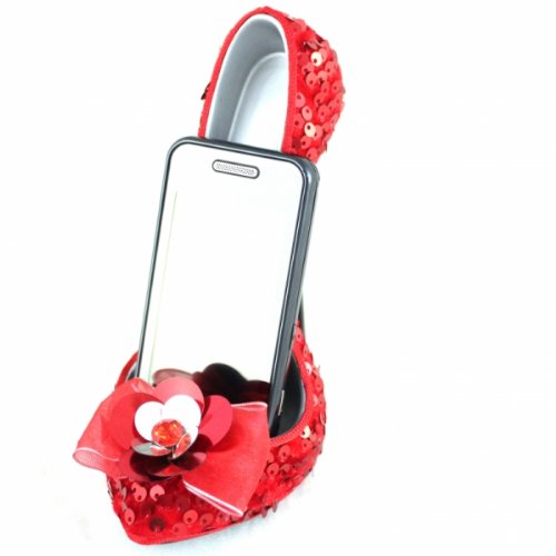 jacki-design-glamour-nite-red-shoe-cell-phone-stand-holder-organizer-gift