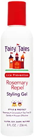 Fairy Tales Rosemary Repel Daily Kid Styling Gel for Lice Prevention, 8 Fl. Oz (Pack of 1)