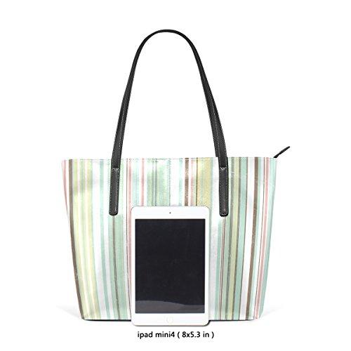 Coosun Soft Stripes PU Leder Schultertasche Handtasche und Handtaschen Tasche für Frauen
