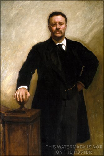 President Theodore Roosevelt, Official White House Portrait, by John Singer Sargent - 24