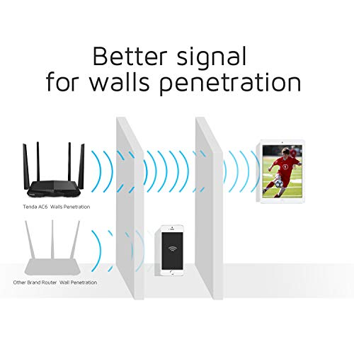 Tenda AC1200 Dual Band WiFi Router High Speed Wireless Internet Router with Smart App MUMIMO for Home AC6