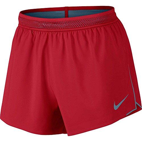 Nike Men's 4'' Aeroswift Running Shorts (University Red/Thundblu, M) by NIKE