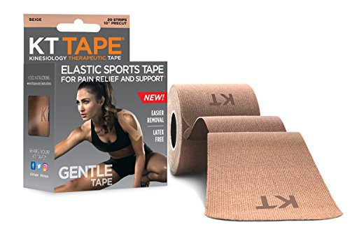 KT Tape Kinesiology Tape, Gentle Adhesive, Cotton, Elastic Sports Athletic Tape, Beige by KT Tape