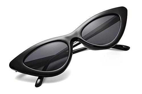 al sol triangulares gato de libre mujer con UV400 aire Retro viajes Gafas ojo de para para Qilene EqOwdq5x