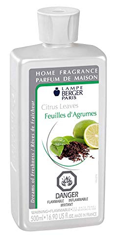 (Citrus Leaves | Lampe Berger Fragrance Refill by Maison Berger | for Home Fragrance Oil Diffuser | Purifying and perfuming Your Home | 16.9 Fluid Ounces - 500 millimeters | Made in France)