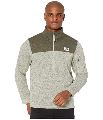 The North Face Men's Gordon Lyons Quarter Zip Pullover, Granite Bluff Tan Heather/New Taupe Green Heather, Large (Best North Face Fleece)