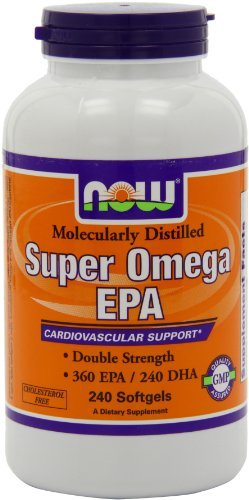 NOW Foods Super Omega EPA, 360 EPA/240 DHA Double Strength, 240 Softgels (Pack of 3) by NOW Foods