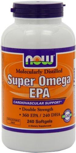 NOW Foods Super Omega EPA, 360 EPA/240 DHA Double Strength, 240 Softgels (Pack of 3)
