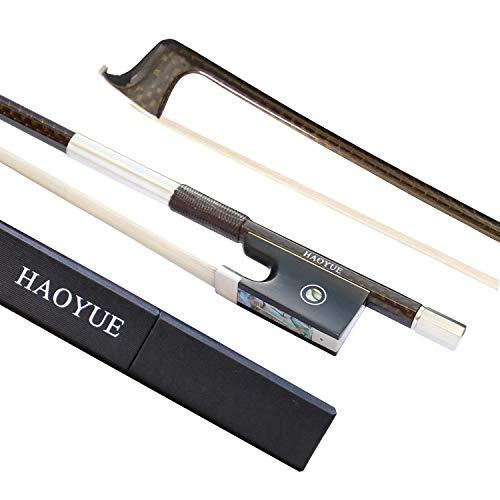 HAOYUE - Arco de violín fibra de carbono a mano 4/4 marrón