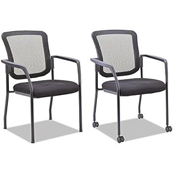 Amazon Com Alera Aleel4314 Mesh Guest Stacking Chair