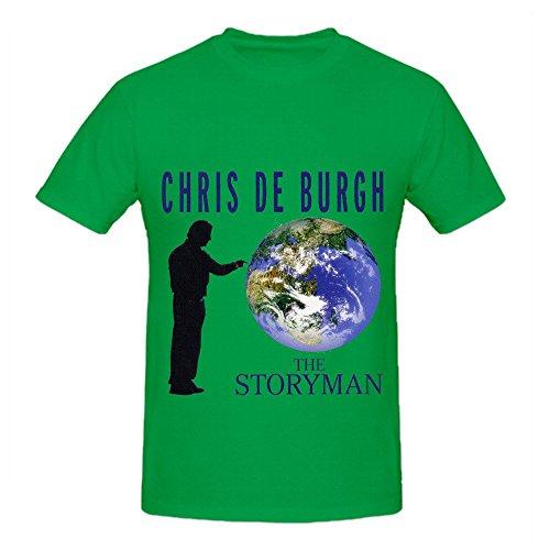 Mos Bacon (Chris De Burgh The Storyman 80s Mens O Neck Cute Shirts Green)