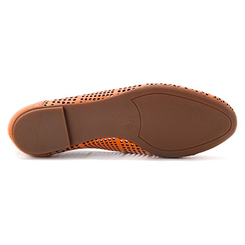 French Leather Sole Sole Orange Naru Womens French v8qvxwCr