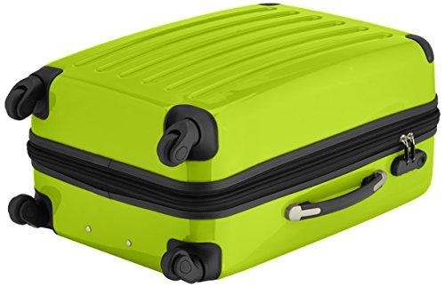 HAUPTSTADTKOFFER - Alex - 2er Koffer-Set Hartschale glänzend, 65 cm + 55 cm, 74 Liter + 42 Liter, Graphit-Blau Graphit-apfelgrün