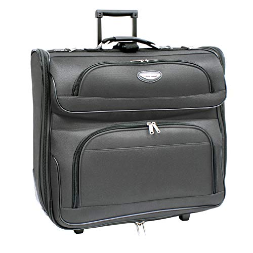 Travel Select Amsterdam Rolling Garment Bag Wheeled Luggage Case, Gray (23-Inch)