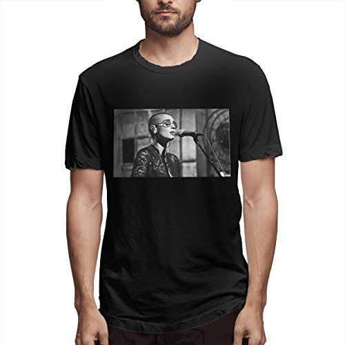 DECTTHY Man's Wild Sinead O'Connor T Shirt 100% Cotton Black 3XL