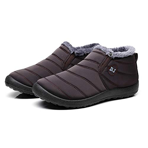 De Botines De Toamen Zapatos Nieve Mujer … Invierno Planos Piel C Forro con De CáLida qvqXS