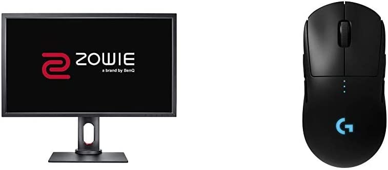 BenQ Zowie XL2731 27 inch 144 Hz Gaming Monitor | 1080P 1ms | Black Equalizer & Color Vibrance for Competitive Edge & Logitech G Pro Wireless Gaming Mouse with Esports Grade Performance