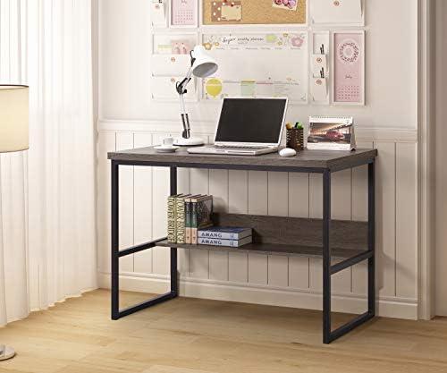 Best home office desk: Weathered Grey Finish Large Computer Desk