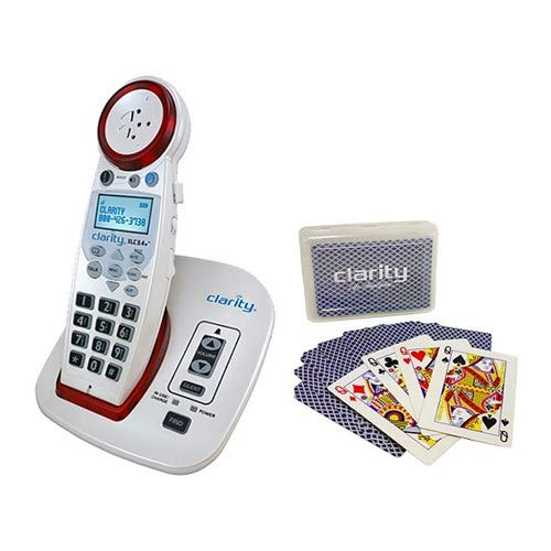 Clarity XLC3.4 Plus Amplified Cordless Phone Bundle with Clarity Playing Cards