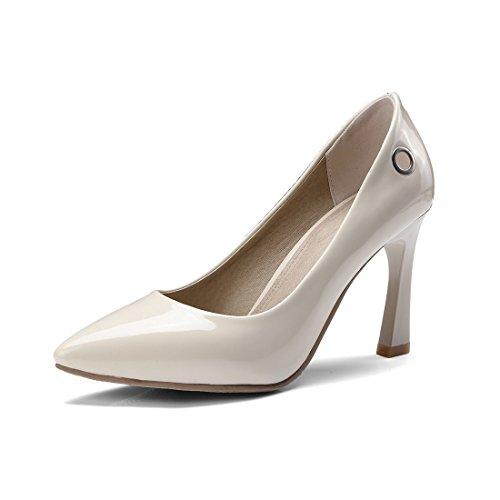 Zapatos de Tacón/Durante la Primavera y el Otoño, Señaló Zapatos de Tacón finalizar el Código Pin Muñequera Zapatos de Mujer Beige