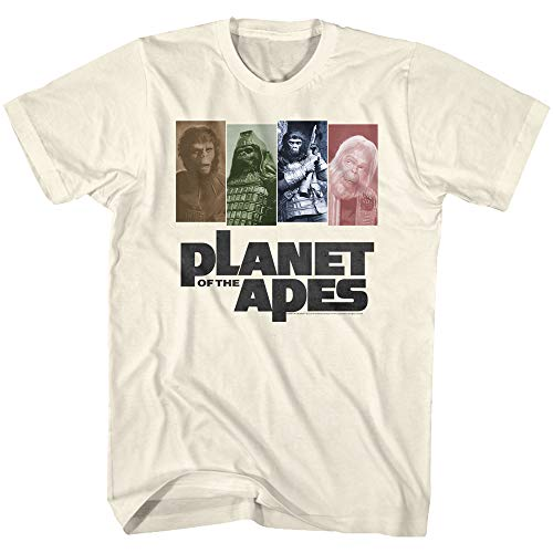 Planet of The Apes Science Fiction Media Ape Panels Four Poses T-Shirt Tee (Planet Of The Apes Shirt Men)