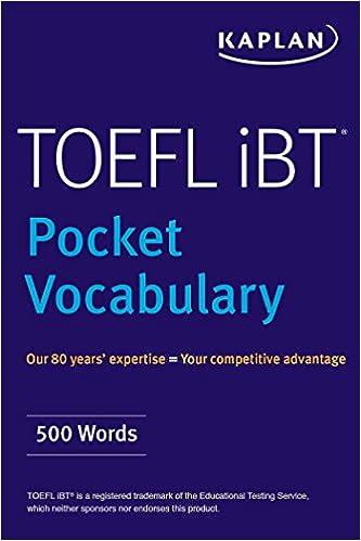 TOEFL Pocket Vocabulary: 600 Words + 420 Idioms + Practice Questions