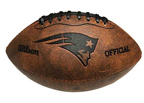 - NFL New England Patriots Vintage Throwback Football, 9-Inches