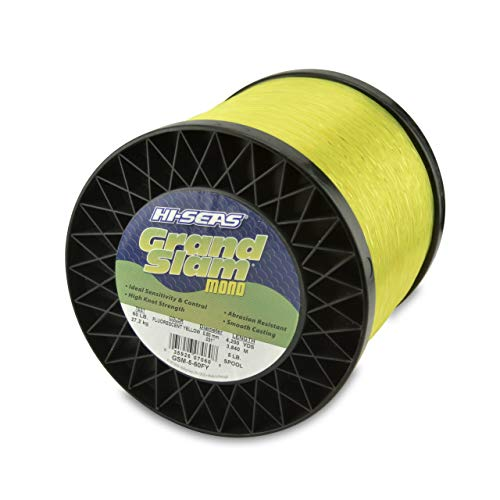 (Hi-Seas Grand Slam Monofilament, 30 Pound Test, Fluorescent Yellow, 1-Pound Spool (Renewed))