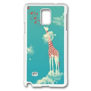 iCustomonline Head In The Clouds Case for Samsung Galaxy Note 4 PC White