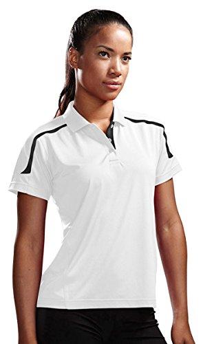 Tri-Mountain 171 Lady Titan Performance Golf Jersey White/Black 2XL