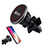 #2: IKOPO Universal Magnetic Mini Air Vent Phone Holder for Car, Car Phone Mount Suitable for iPhone 7 7 Plus/ 6s Plus/6s/6, Samsung Galaxy S8 Edge S7 S6 Note 5, Nexus 6, & Smartphones