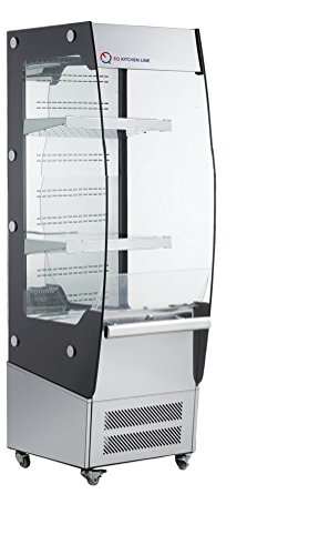 Self Service Refrigerated Display Case (EQ Kitchen Line RTS-180L-3 Commercial Refrigerated Open Display Case Self Contained, 57.09