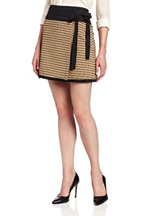 Rachel Roy Collection Women's Straw Jacquard Wrap Skirt, Straw Multi, 0