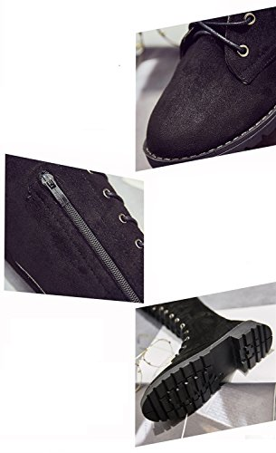 The Women's Boots Size Large Flat Shoes Boots and Autumn Lace Winter XZ Black Over Female Knee a1CFzwx