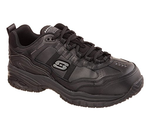 Skechers Men's Work Relaxed Fit Soft Stride Grinnel Comp, Black Leather/black Mesh - 12 D(M) - Shops On Robson