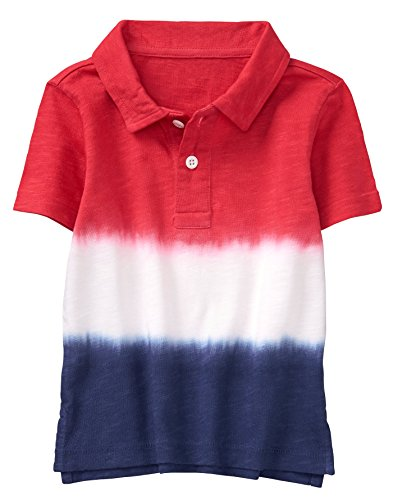 Gymboree Boys' Little Dip Dye Polo Tee, True red Ombre, M
