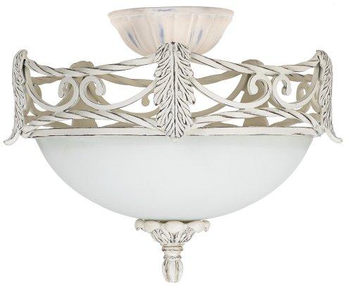 Acanthus Leaf Etched Glass Ceiling Fan Light Kit