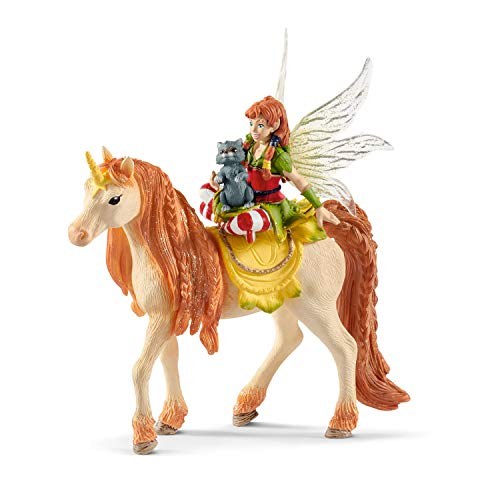 Schleich Fairy Marween with Glitter Unicorn Toy, Multicolor