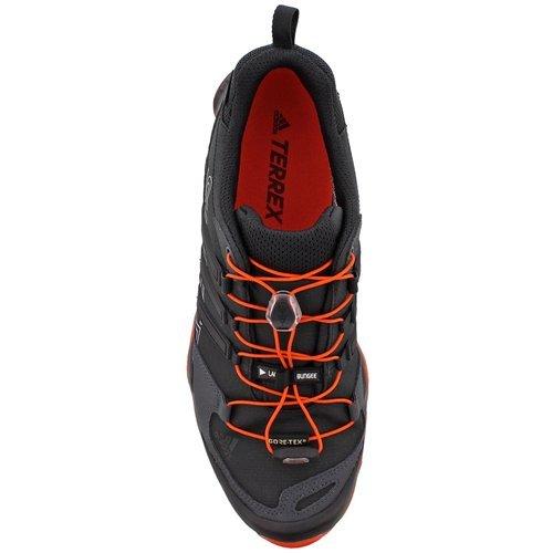 adidas outdoor Men's Terrex Swift R GTX Black/Black/Energy Hiking Shoes - 13 D(M) US