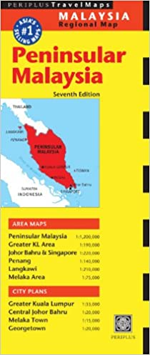 Peninsular Malaysia Travel Map (Periplus Travel Maps ...