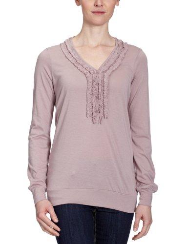 LTB - Camiseta de manga larga con cuello pico para mujer Fog Pink 8076