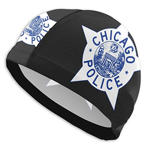 Chicago Police Logo Comfortable Fit Swimming Cap for Men Women Adults Youths,3D Ergonomic Design